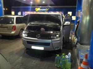 Слить топливо Volkswagen